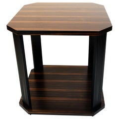Art Deco Style Occasional Table in Ebony Macassar