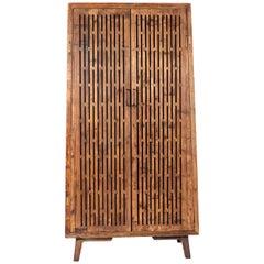 Art Deco Style Open Slat Front Cabinet