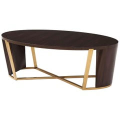 Art Deco Style Oval Coffee Table