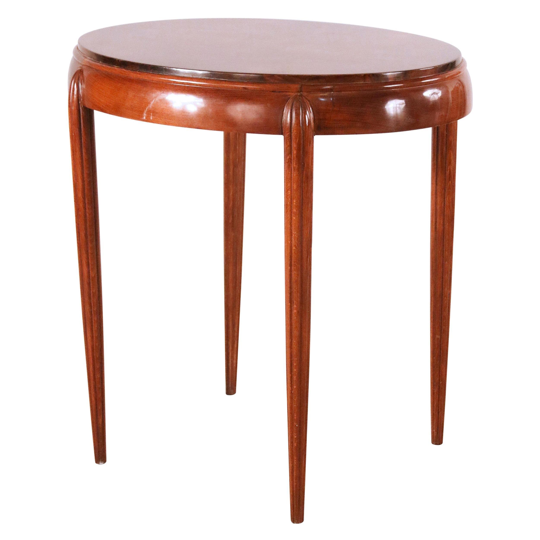 Art Deco Style Oval Mahogany End Table