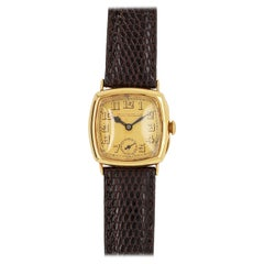 Art Deco Style Patek Philippe 18 Karat Yellow Gold Wristwatch, circa 1920s