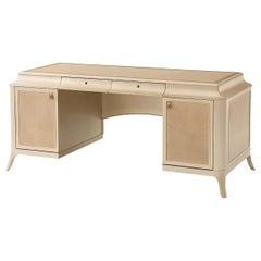 Art Deco Style Pedestal Desk