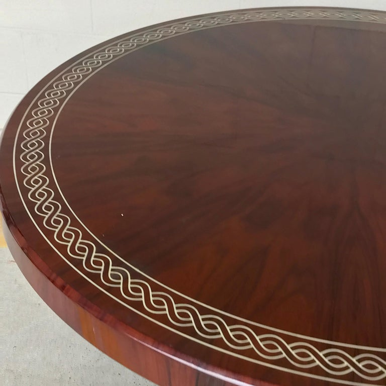French Art Deco Style Rosewood Centre Table with Lacquer Inlay For Sale