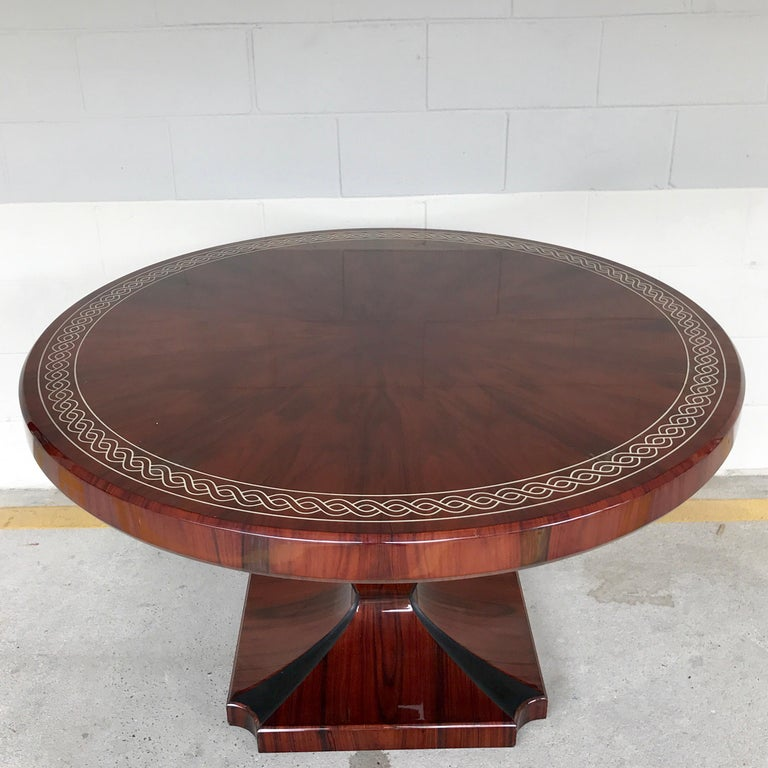 Art Deco Style Rosewood Centre Table with Lacquer Inlay For Sale 2