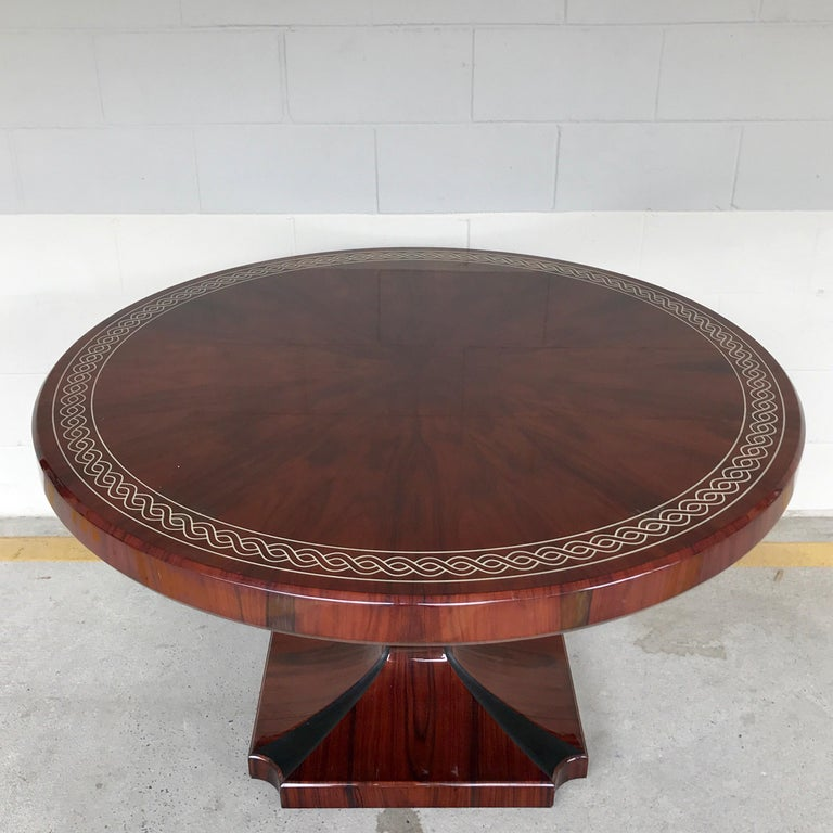 Art Deco Style Rosewood Centre Table with Lacquer Inlay For Sale 4