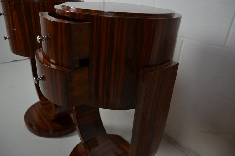Art Deco Style Rosewood Nightstands For Sale 1