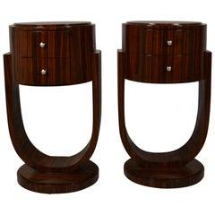 Art Deco Style Rosewood Nightstands