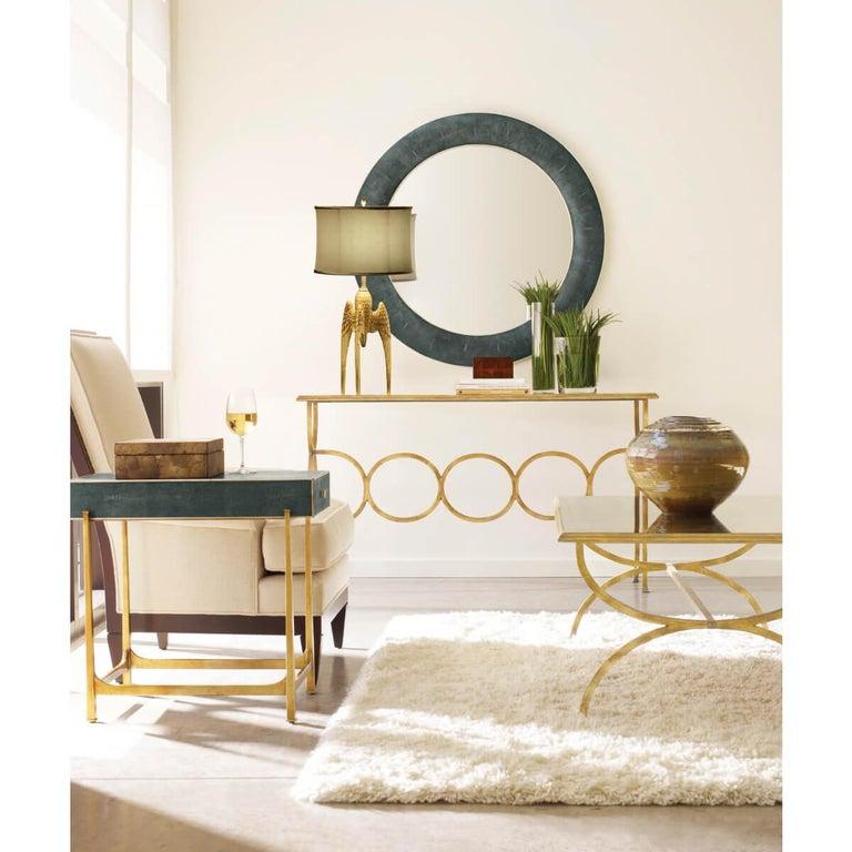 European Art Deco Style Round Mirror For Sale