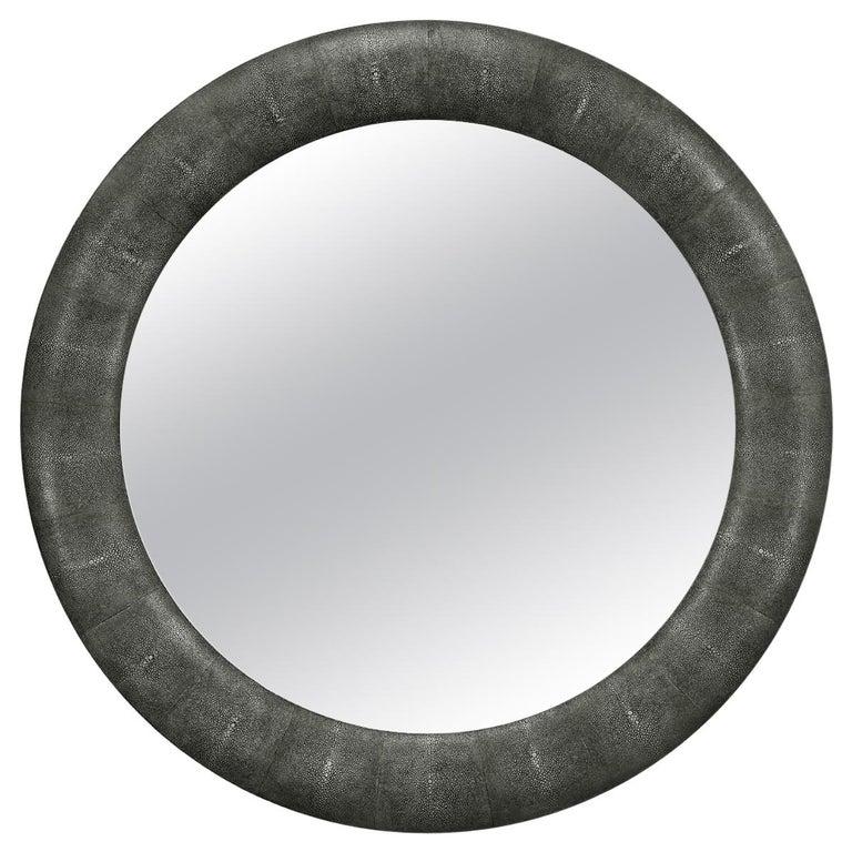Art Deco Style Round Mirror For Sale