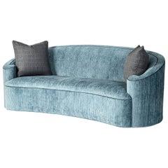 Art Deco Style Scroll Sofa