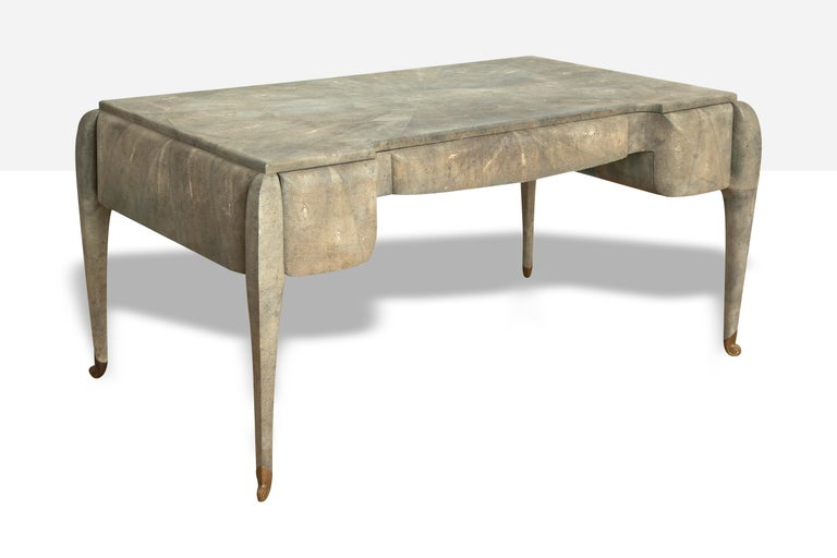 American Art Deco Style Shagreen Desk by Maitland Smith For Sale
