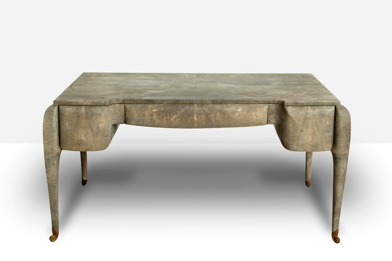 Art Deco Style Shagreen Desk by Maitland Smith In Good Condition For Sale In Miami, FL