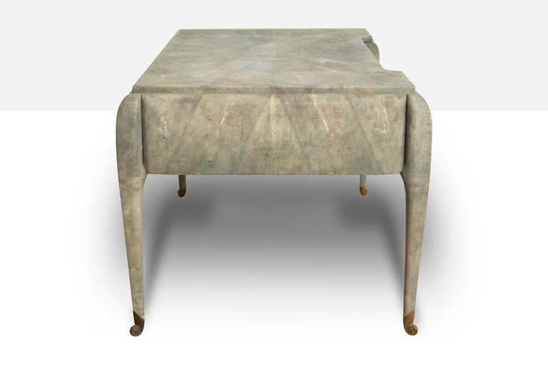 Art Deco Style Shagreen Desk by Maitland Smith For Sale 1