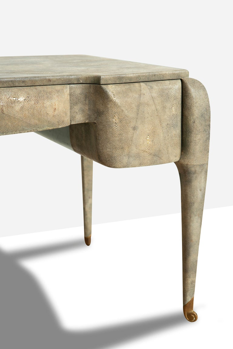 Art Deco Style Shagreen Desk by Maitland Smith For Sale 3