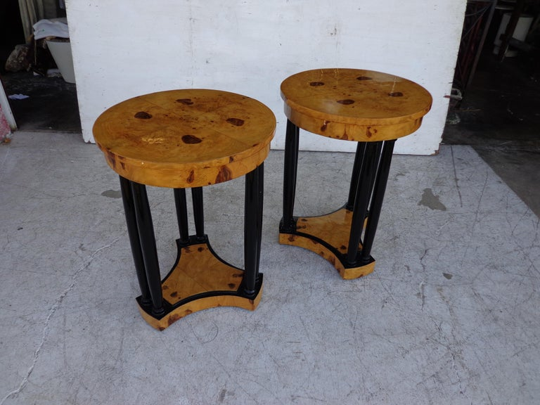Art Deco style side tables.
