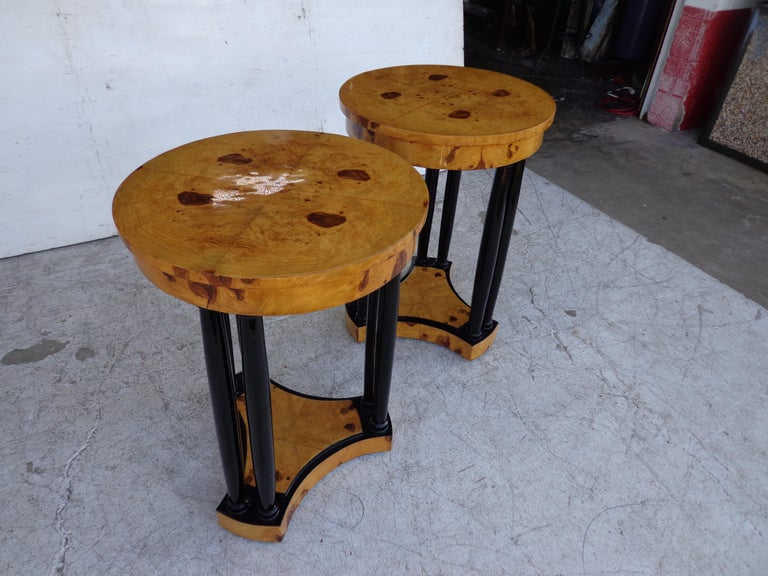 European Art Deco Style Side Tables For Sale