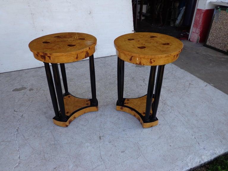Ebonized Art Deco Style Side Tables For Sale