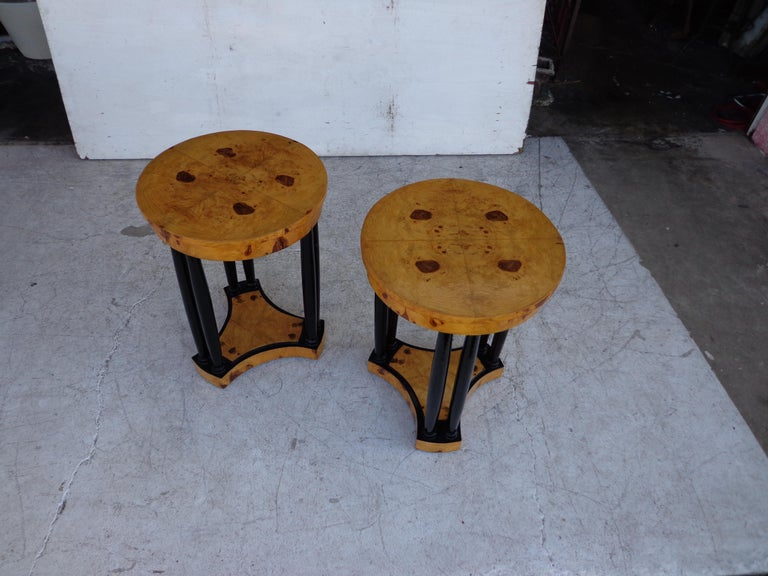 Art Deco Style Side Tables In Good Condition For Sale In Pasadena, TX