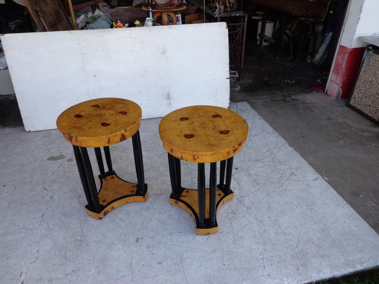 Contemporary Art Deco Style Side Tables For Sale