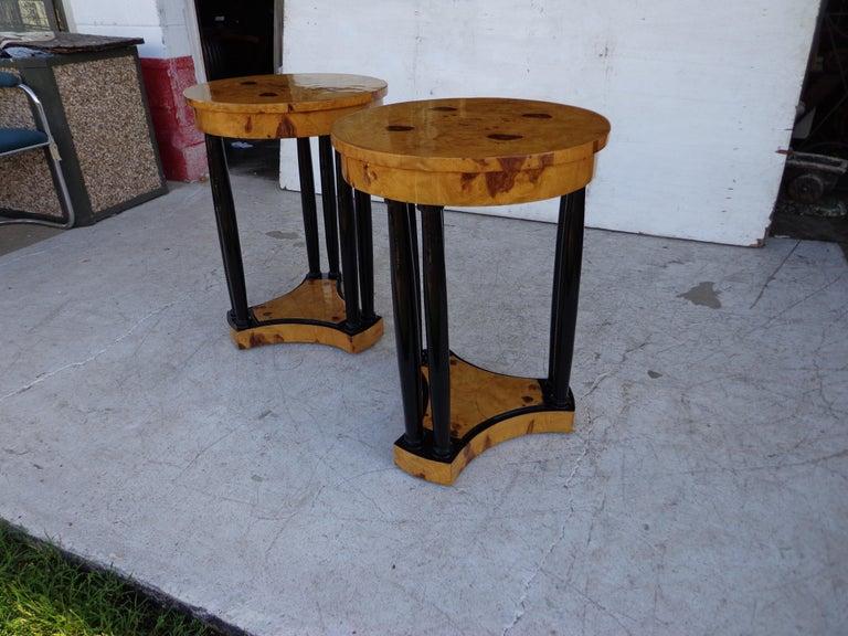 Burl Art Deco Style Side Tables For Sale