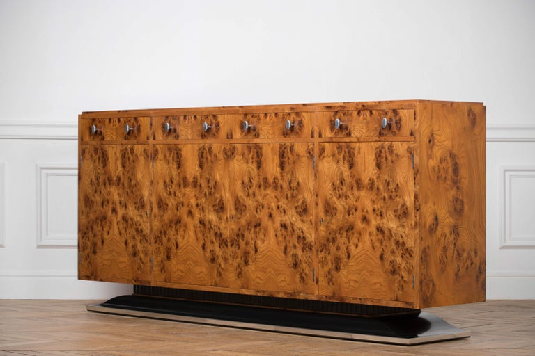 Elm Art Deco Style Sideboard by Restall Brown and Clennell For Sale