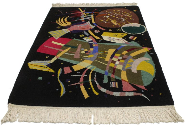 77098, Contemporary Abstract Tapestry Inspired by Wassily Kandinsky's