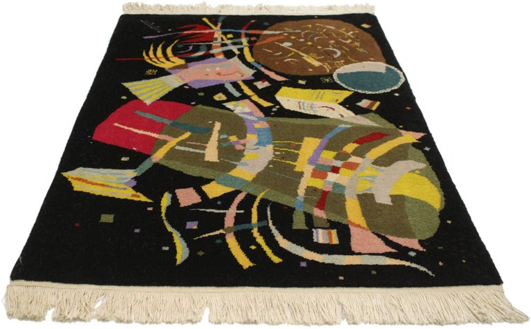 77093, Art Deco style tapestry inspired by Wassily Kandinsky's