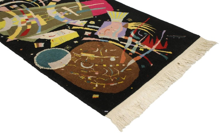 Modern Art Deco Style Tapestry Inspired by Wassily Kandinsky's