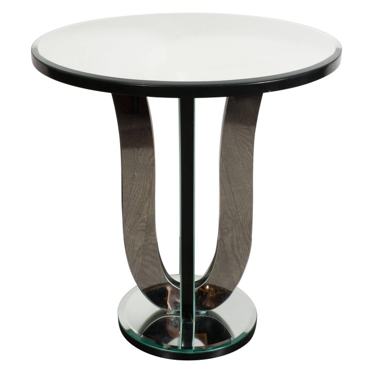 Art Deco Style Urn Form Mirrored Occasional or Side Table