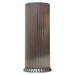 Art Deco Style Vase in White Metal, Denmark 1960s