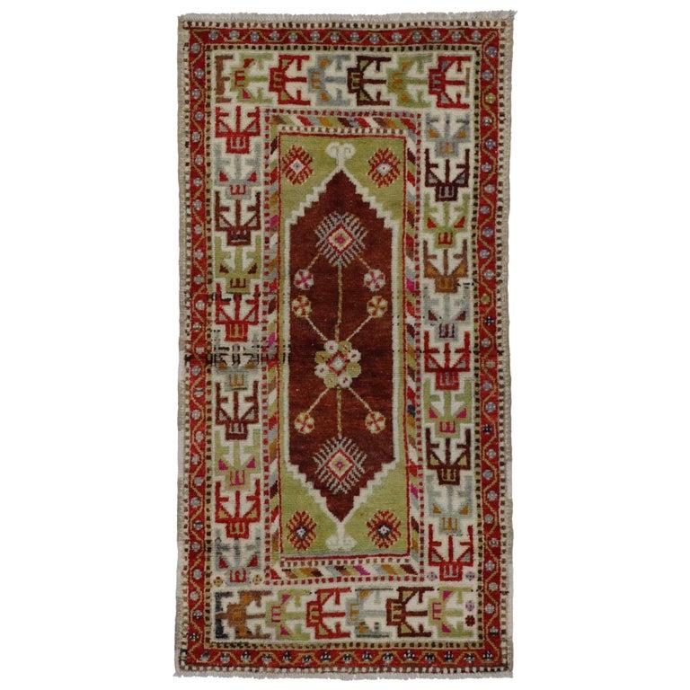 Foyer Rugs For Sale : Art deco style vintage turkish oushak rug kitchen foyer