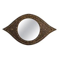 Art Deco Style Wall Mirror in Eye Ball Form