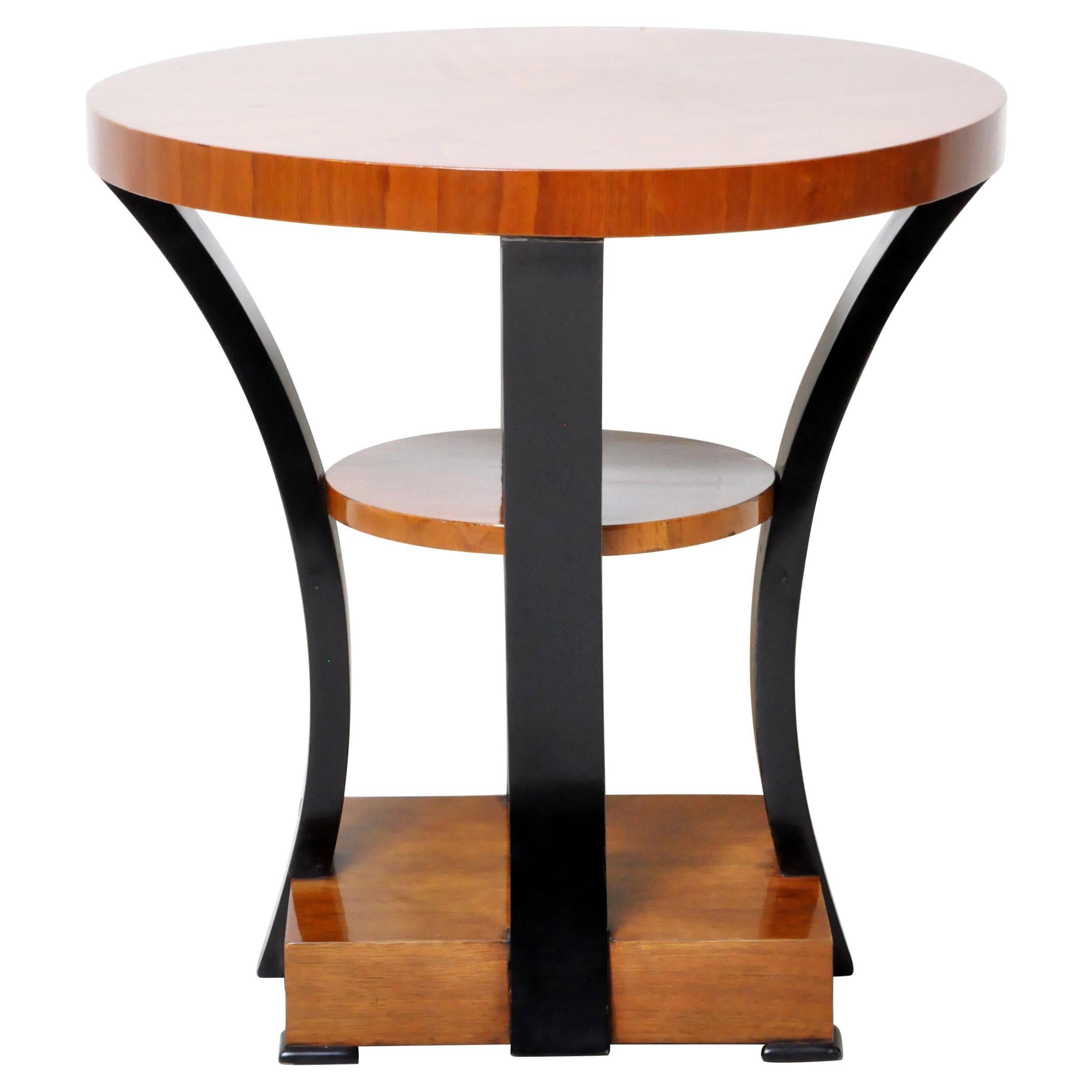 Art Deco Style Walnut Veneer Side Table