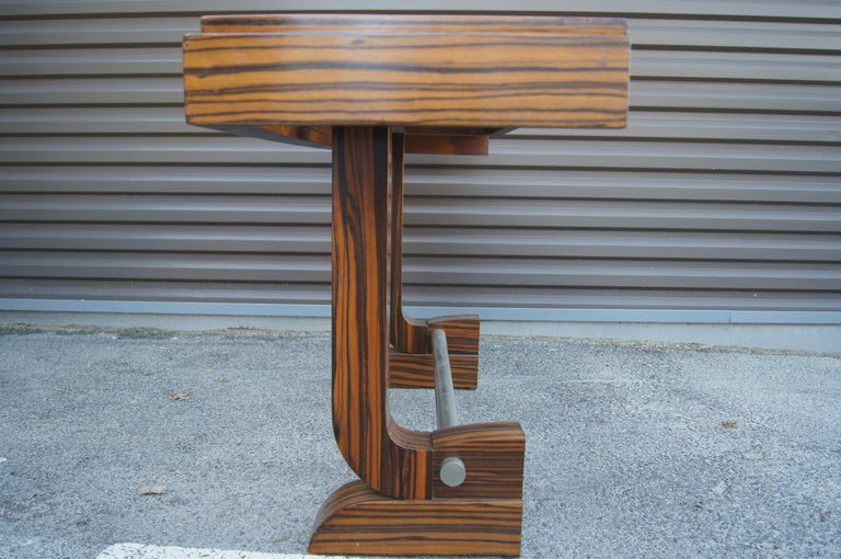 Art Deco Style Zebrawood Console Table For Sale 1