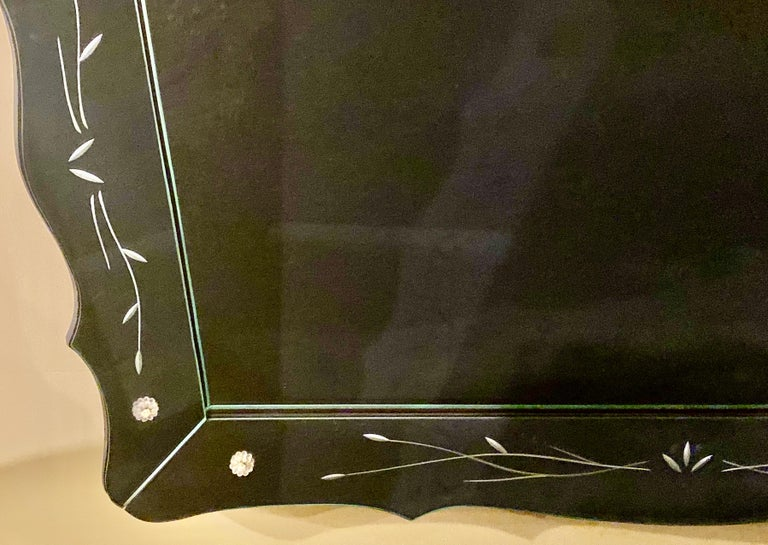 Art Deco Styled over the Mantle or Wall Mirror, Shadowbox Frame For Sale 10