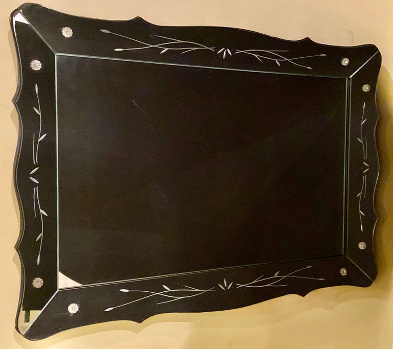 Mid-Century Modern Art Deco Styled over the Mantle or Wall Mirror, Shadowbox Frame For Sale