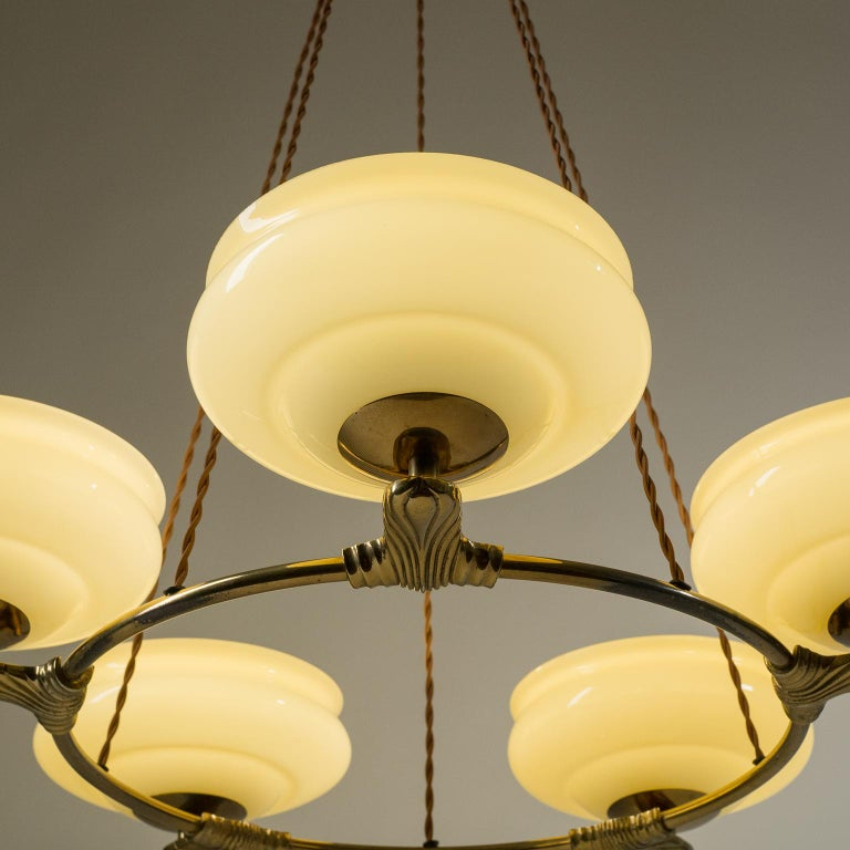 Art Deco Suspension Chandelier, 1930s In Good Condition For Sale In Vienna, AT