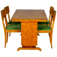 Art Deco Swedish Extendable Dining Table, 1930s Biedermeier