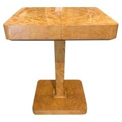 Art Deco Swedish Flame Birch Sewing Table