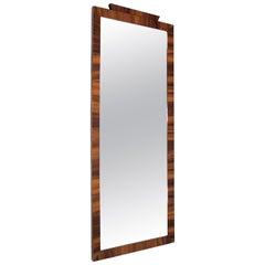 Art Deco Swedish Rosewood Mirror, 1940s