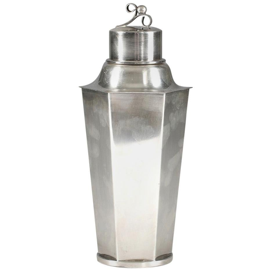 Art Deco Swedish Silver Plated Cocktail Shaker
