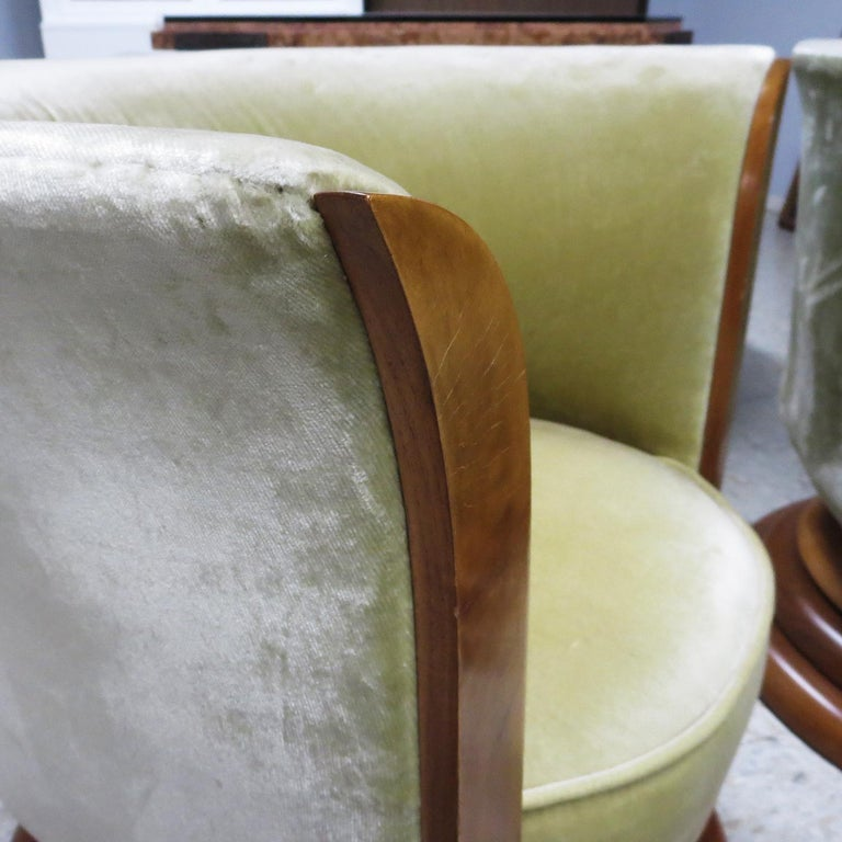 Art Deco Swiveling Tulip Chairs from Hotel Le Malandre For Sale 1