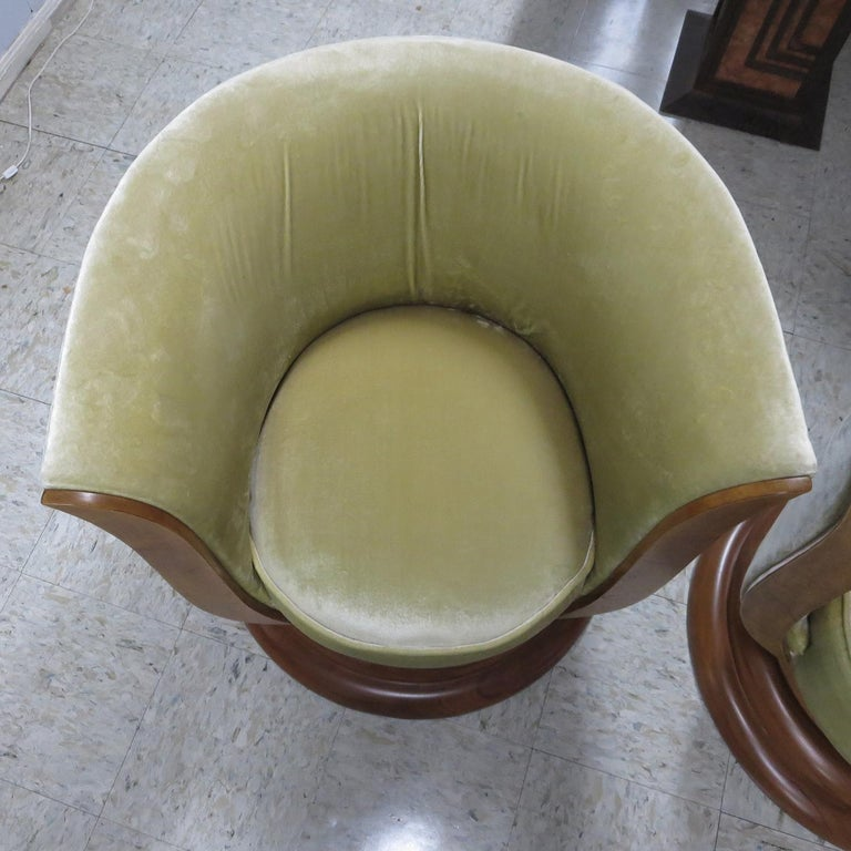 Art Deco Swiveling Tulip Chairs from Hotel Le Malandre For Sale 2