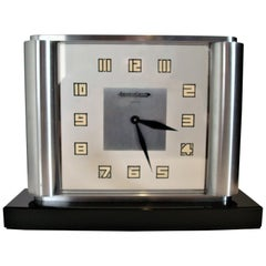 Art Deco Table Clock by Jaeger-LeCoultre Ghiso, Rare, 1930s