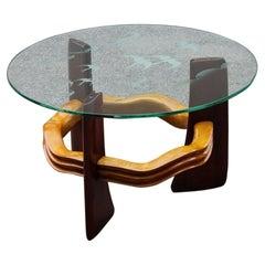 Art Deco Table Coffè Futurist Vittorio Valabrega Italian Chestnut Maple 1930