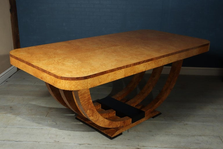 Art Deco Table in Burr Elm French, circa 1930 For Sale 8