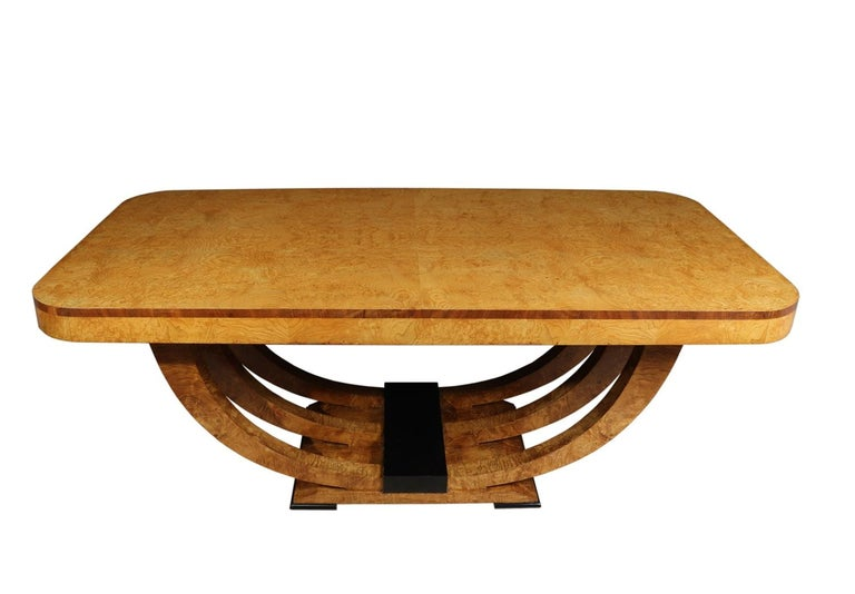 Mid-20th Century Art Deco Table in Burr Elm French, circa 1930 For Sale