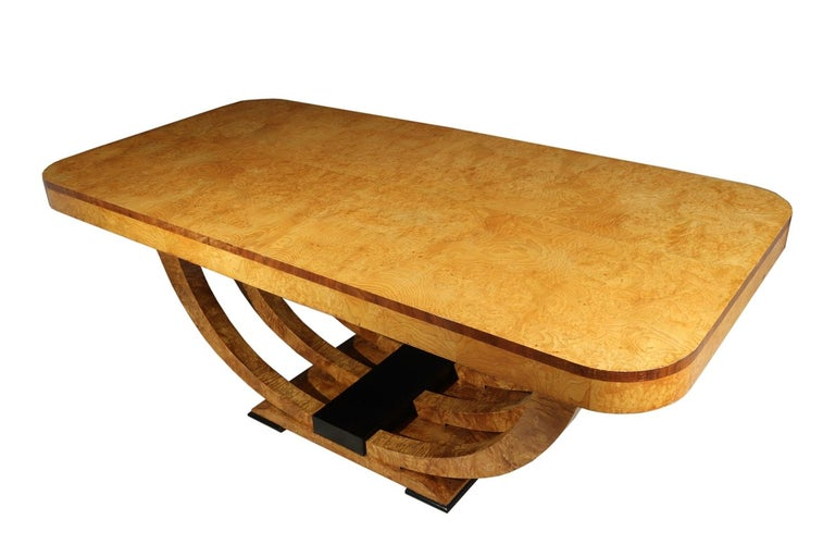 Art Deco Table in Burr Elm French, circa 1930 For Sale 5