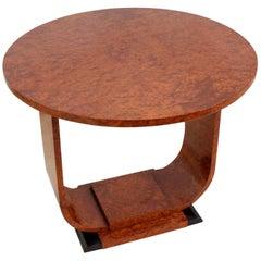Art Deco Table in Burr Walnut, circa 1920