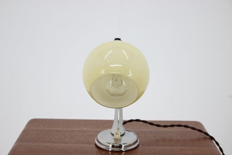 Czech Art Deco Table Lamp, 1930s For Sale